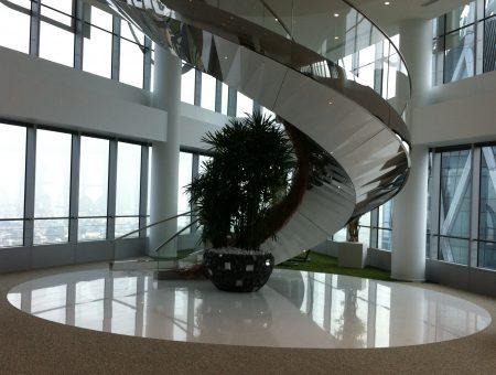 Un escalier rooftop haute couture